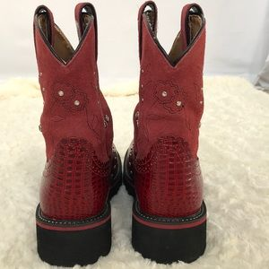 Ariat Shoes - ARIAT FATBABY WESTERN BOOTS WOMEN 16460 RED 7.5